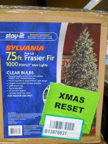 Sylvania 7.5 F Ft Stay-lit Tree 1000 Clear Lights - Sylvania 7.5 F Ft Stay-lit Tree 1000 Clear Lights: Amazon.ca: Home