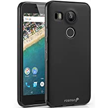 Fosmon (DURA-FRO) Google Nexus 5X Case - Slim-Fit Flexible TPU Gel Cover for LG Nexus 5X - Fosmon Retail Packaging (Black)