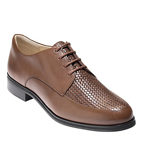 Cole Haan Womens Micaela Grand Weave Oxford Sequoia Leather