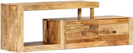 Vidaxl Mangoholz Massiv Tv Schrank Mit 2 Schubladen 1 Fach Tv Möbel Tisch Board Lowboard Fernsehtisch Fernsehschrank Hifi Sideboard 120x30x40cm Küche Haushalt