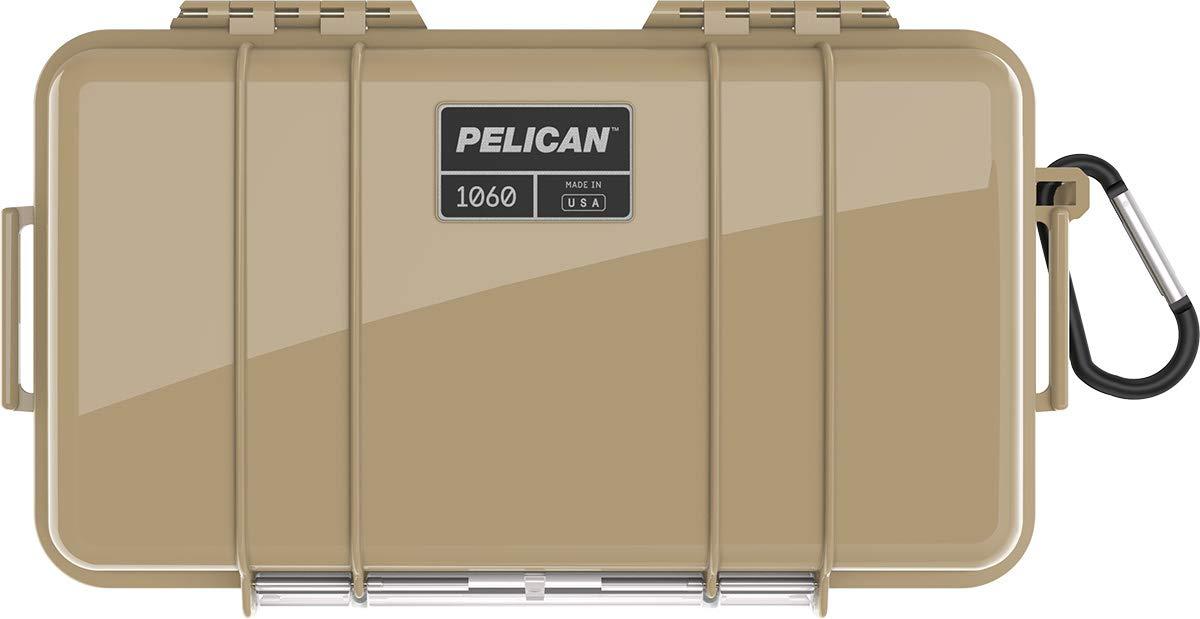 Pelican タン 1060 ケース ライナーとカラビナ付き B07HCB9NNX