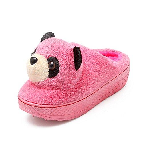 Y-Hui en el invierno de algodón zapatillas zapatillas de estar por casa con zapatillas de suela gruesa Home Furnishing Semi femenino interiores,36-37 (Fit 34, 35 pies), Rosa