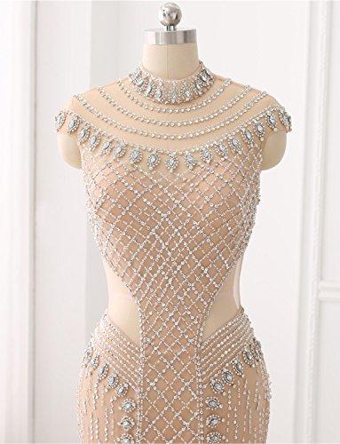 Festkleid Kristall Abendkleid Gerade Erosebridal Handgefertigten Langes Formales Glasperlen q0Pv4P