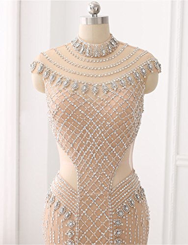 Festkleid Langes Abendkleid Glasperlen Handgefertigten Kristall Erosebridal Gerade Formales pwC7q01
