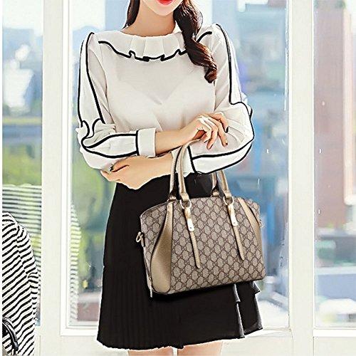 Handbag Messenger Bag Stylish Boston Retro Women's Bag Bag Shoulder Satchel Stylethree Bag Bag Shoulder wx5SPX