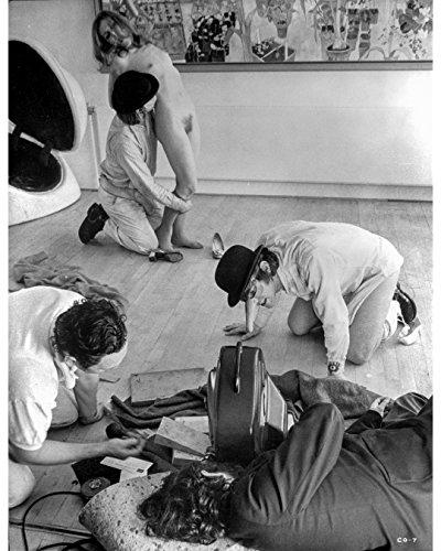 Premium Photographic Print Director (Globe Photos ArtPrints Clockwork Orange Three Men Harassing Naked Girl - 8