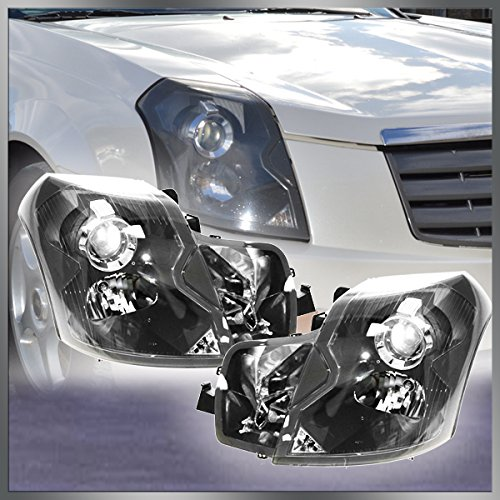 Headlights Headlamps Left & Right Pair Set for 03-07 Cadillac CTS (Cadillac Cts Headlight Assembly)