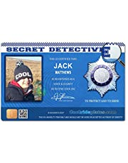 Coolrideplates® Kid's Personalised Detective style ID *SIMPLY MESSAGE US WITH THE NAME AND PHOTO REQUIRED AFTER ORDERING*