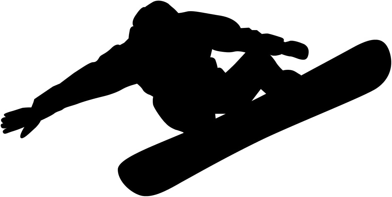 TheVinylGuru Snowboarding Wall Decal Sticker 3 - Decal Stickers and Mural for Kids Boys Girls Room and Bedroom. Snow Boarding Wall Art for Home Decor and Decoration - Snowboard Silhouette Mural