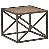 Cheap Stone & Beam Roland X-Frame End Table, 24″W, Pine