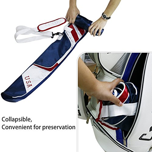 Craftsman Golf Stars and Stripes American USA US Flag Club Case Sunday Bag Red White Blue For 6-7 Clubs 49'' by Craftsman Golf (Image #2)