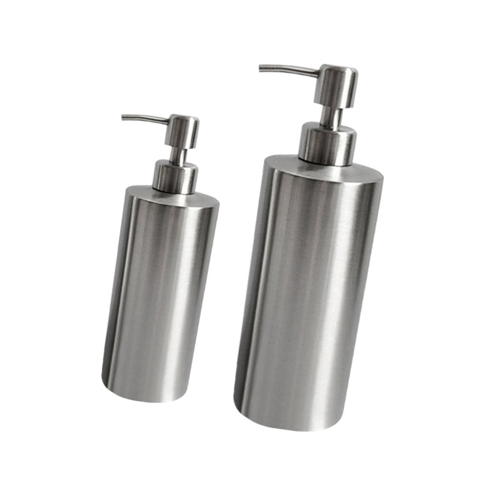 FITYLE 2pc 250&500ml Shower Bottle Stainless Soap Dispenser Foam Pump Lotion Bottle