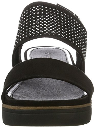 Marco Tozzi Women's 28204 Wedge Heels Sandals Black (Black 001) G5pdu7