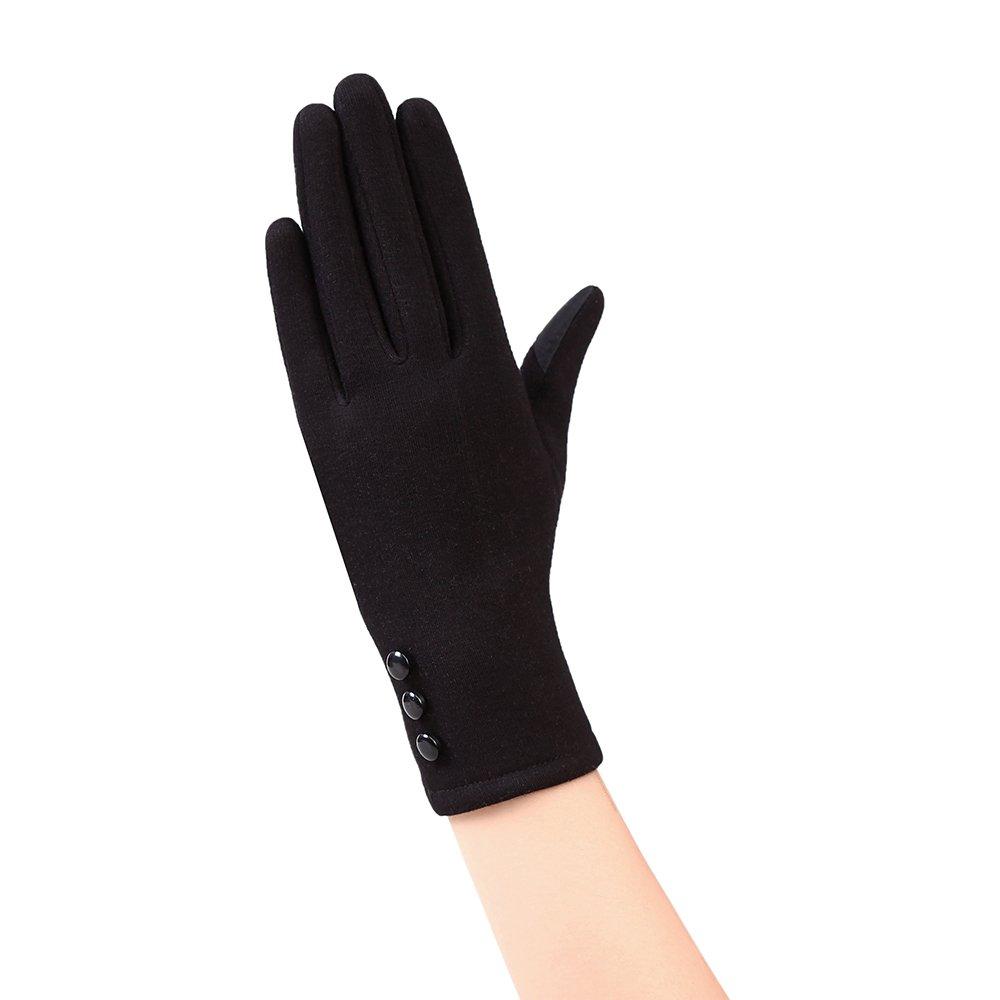 Eizur Camoscio Touchscreen Guanti Donna Caldo Antivento Guanti invernali termica Guanto guanti sportivi per Ciclismo Sci Escursionismo Caccia Arrampicata Tipo 1 - Marrone