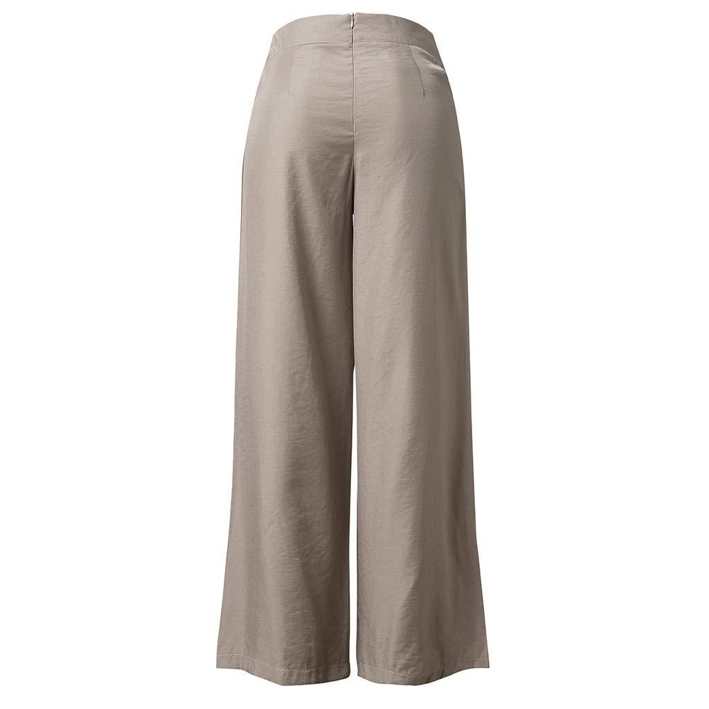 VEZAD Women Palazzo High Waist Wide Leg Culottes Pants Yoga Harem Baggy Loose Trousers