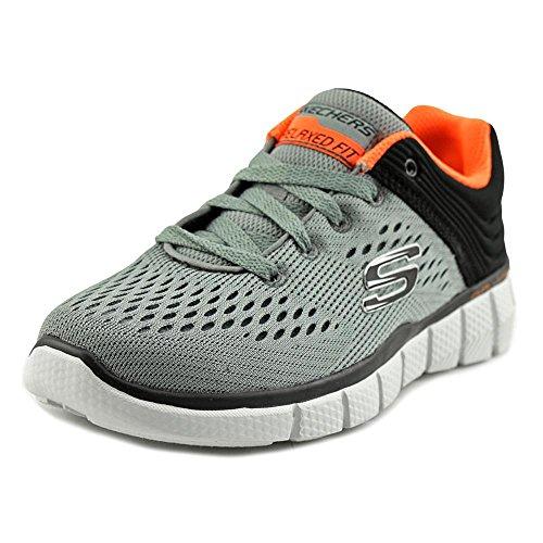 Skechers Kids Boys' Equalizer 2.0-Post Season Sneaker, Charcoal/Black, 4 M US Big