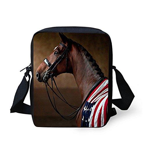 C663E Y Marron HUGS Horse7 pour Sac Horse5 bandoulière femme IDEA petit POq46