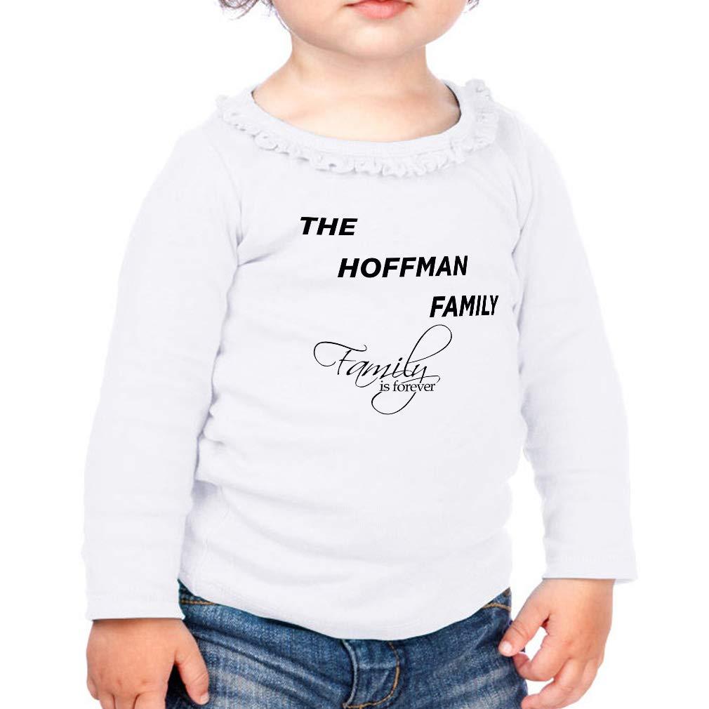 Custom Family is Forever Cotton Girl Toddler Long Sleeve Ruffle Shirt Top
