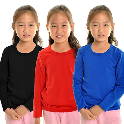 Girls Thermal Long Sleeve Top - Angelina Girl's Fleece Lined Crew-Neck Long Sleeves Thermal Top, 7914_XL