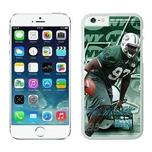 York Jets Kenrick Ellis Case Cover For Apple Iphone 5/5S White NFL Case Cover For Apple Iphone 5/5S 13999
