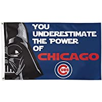 Chicago Cubs MLB Star Wars You Underestimate the Power 3 x 5 Ft Deluxe Banner Flag