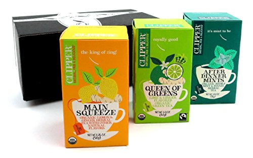 Clipper Organic Tea 3-Flavor Variety: One 20 Envelope Box Ea