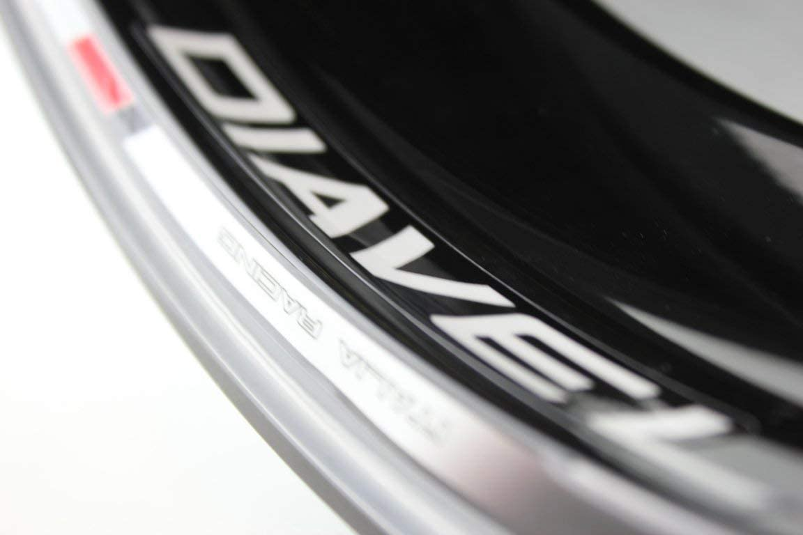 IMPRESSIATA Ducati Diavel Motorrad Felgenrandaufkleber SpecialGP Wei/ß Komplettset Aufkleber Sticker