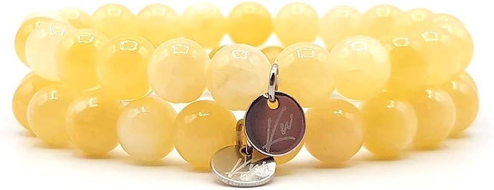 KARDINAL.WEIST Pulsera de Perlas de Piedra Natural de ágata, Joyas para Damas, Pulsera energética, Pulsera de Yoga