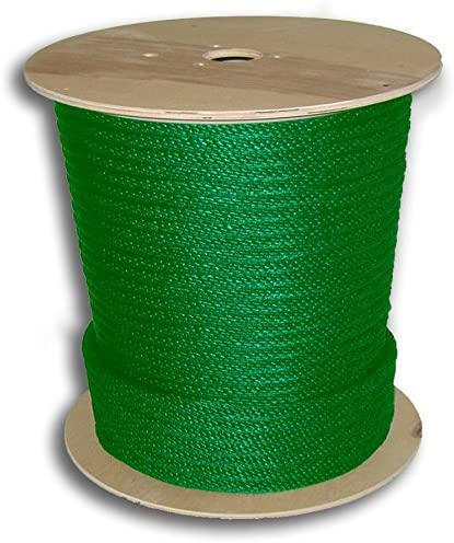 """ANCHOR ROPE DOCK LINE 5//8/"""" X 100/' BRAIDED 100/% NYLON GREEN MADE IN USA"""