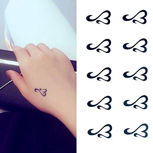 (Oottati Small Cute Temporary Tattoo Heart Totem Hand (Set of 2))