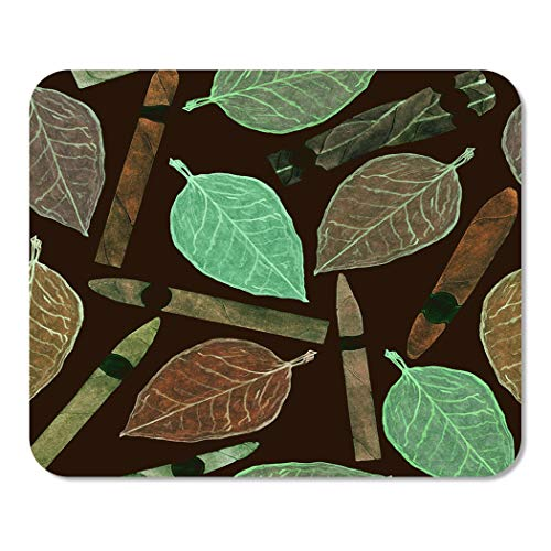 Suike Mousepad Computer Notepad Office Cigars of Different Shapes and Colors Tobacco Leaf Hand Home School Game Player Computer Worker 9.5x7.9 Inch