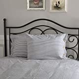 Piper Classics Farmhouse Ticking Stripe Blue Standard Sham, 21'' x 27'', Bed Pillow Cover