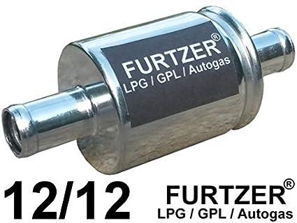 2 St/ück Furtzer/® LPG GPL Autogas Filter 14 mm//14 mm Gasfilter