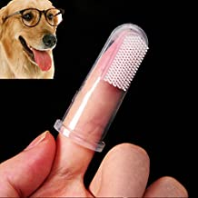 Hot Selling Super Soft Pet Finger Toothbrush Dog Brush Addition Bad Breath Tartar Teeth Care Dog Cat Cleaning Supplies