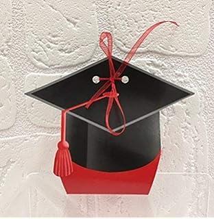 OULII 24Pcs Contenitore di regalo a forma di cappello di laurea ... 30e0b814dd73