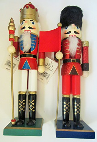 Wooden Christmas Nutcracker Two 15 Inch (Christmas Wooden Soldiers)