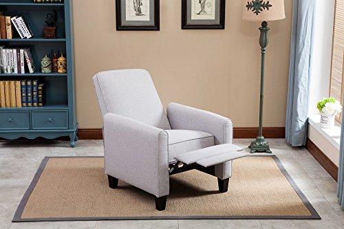 NHI Express Savannah Linen Push Back Full Arm Recliner Gray. Image Number 8  Of Small Reclining Club Chair ...