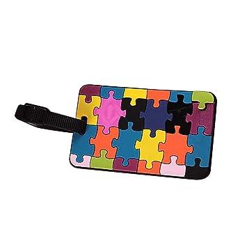 Etiqueta del equipaje maleta - SODIAL(R) Marbete del equipaje maleta Etiqueta de direccion del propietario ID identificador de silicona para marbete de ...