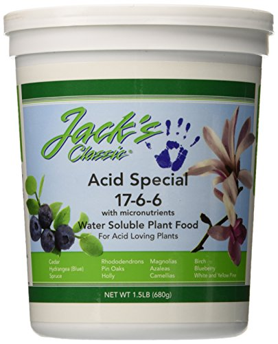 J R Peters Jacks Classic No.1.5 17-6-6 Acid Special Fertilizer (Best Soil For Azaleas)