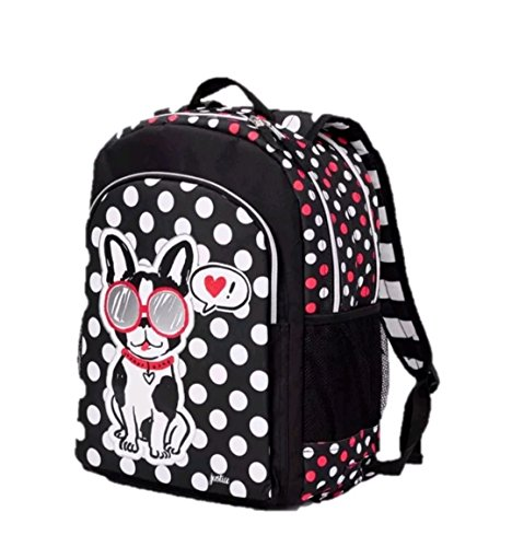 Justice Girls Dog Puppy Positive Attitude 2-Sided Backpack - Rucksack Justice