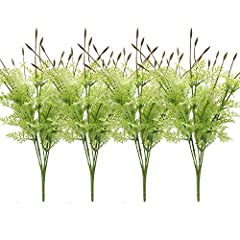Overview Real touch feeling lavender artificial flowers greenery evergreen plant for any occasion centerpieces decorative greenery, This faux flowers in green is wired, easily bendable, perfect for outdoor arrangements. This is a artificial g...