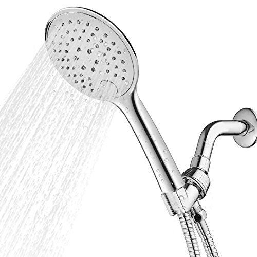 3 Mode Showerhead (Sunsbell Shower Head Rainfall 3 Modes Showerhead Luxurious High Pressure Waterful Chrome Head Shower for Bathing Children, Adults and Pets)