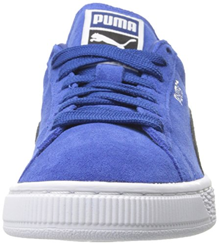 Mens Suede Classic + -M Fashion Sneaker, True Blue-Puma Black, 4 M US