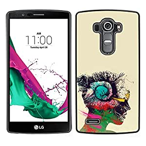 MOBMART Carcasa Funda Case Cover Armor Shell PARA LG G4 - Different Colors Of A Human Mind