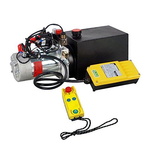 ECO-WORTHY Hydraulic Pump 6 Quart Double Acting Hydraulic Power 12V DC Hydraulic Pump Power Unit w/Wireless Remote - Hydraulic Remote