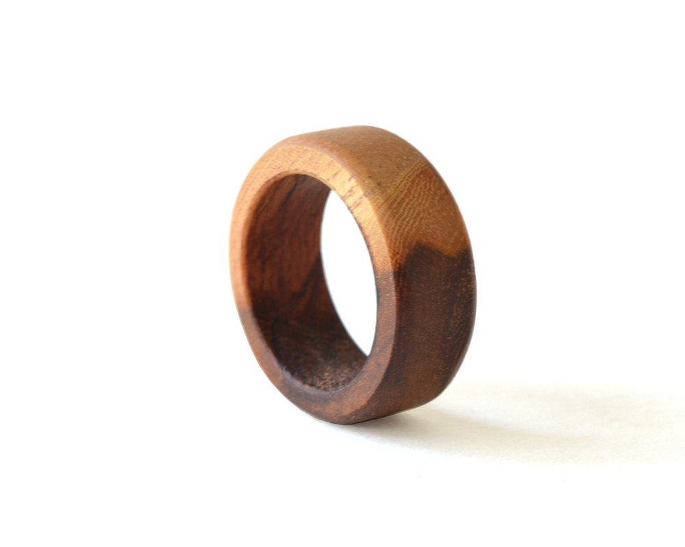 Almond Ring, Almond Wood Band, Wood Ring, Women Wedding Ring, Wedding Ring, Wood Wedding Jewelry, Almond Jewelry, Wooden Men Ring