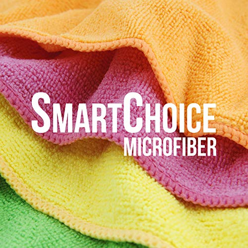 SmartChoice Microfiber Cleaning Cloths (12-pack) | Lint-Free, Streak Free | Various Sizes and Colors Avail | Ideal for Kitchen, Home and Car Use