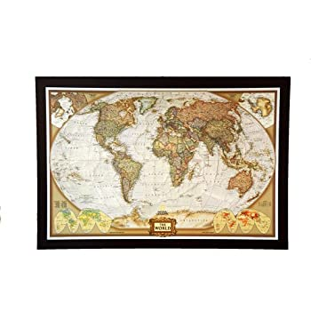 Amazon.com : GIANT SIZE BEST SELLING push pin map of the World Nat ...