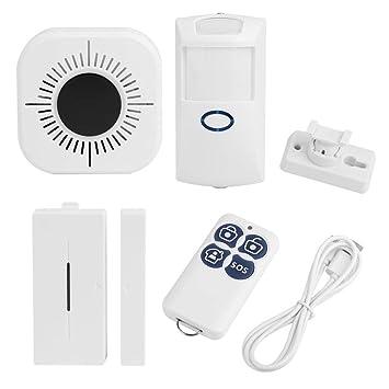 Fdit Kits de Alarma de Seguridad Antirrobo para Hogar WiFi ...