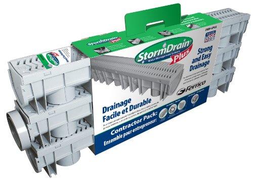 Fernco fsdp-gp3g StormDrain canal plus Contratista Pack de desagüe, color gris